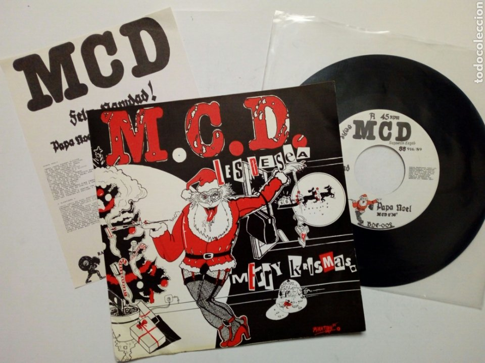 SINGLE: M.C.D. (FELIZ NAVIDAD!) - PAPA NOEL + 25 DE DICIEMBRE (BASATI DISKAK, 1989) MCD - PUNK ROCK (Música - Discos - Singles Vinilo - Punk - Hard Core)
