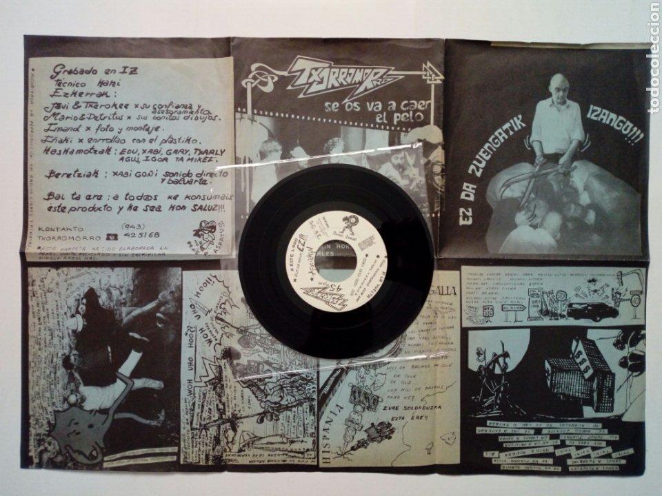 Discos de vinilo: TXORROMORRO - Se os va a caer el pelo EP (Basati Diskak, 1989) - Punk Rock - RRV - - Foto 2 - 187427847