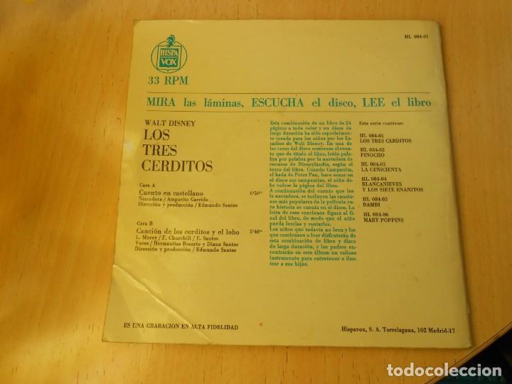 Discos de vinilo: WALT DISNEY - LOS TRES CERDITOS -, EP, CUENTO EN CASTELLANO + 1, AÑO 1967 - Foto 10 - 187437312