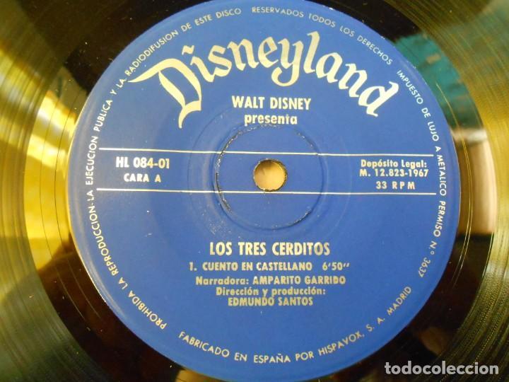 Discos de vinilo: WALT DISNEY - LOS TRES CERDITOS -, EP, CUENTO EN CASTELLANO + 1, AÑO 1967 - Foto 11 - 187437312