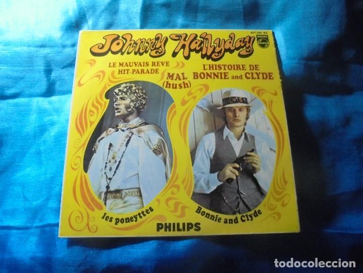 JOHNNY HALLYDAY. LA HISTORIA DE BONNIE Y CLYDE + 3. EP. PHILIPS, 1968 ( CON LENGUETA) (Música - Discos de Vinilo - EPs - Canción Francesa e Italiana)