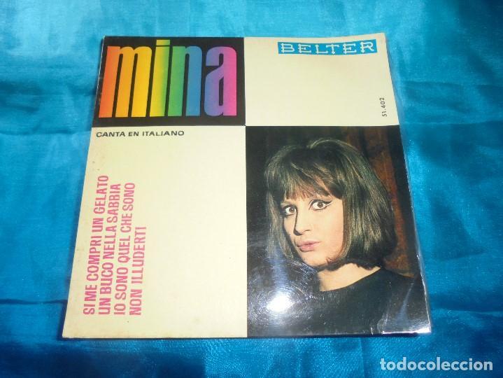 MINA. SI ME COMPRI UN GELATO + 3. EP. BELTER, 1964. SPAIN. IMPECABLE (Música - Discos de Vinilo - EPs - Canción Francesa e Italiana)