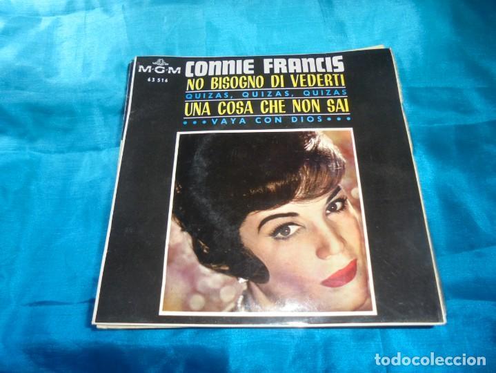 CONNIE FRANCIS. NO BISOGNO DI VEDERTI + 3. EP. MGM, 1965. SPAIN. IMPECABLE (Música - Discos de Vinilo - EPs - Pop - Rock Extranjero de los 50 y 60)