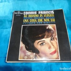 Disques de vinyle: CONNIE FRANCIS. NO BISOGNO DI VEDERTI + 3. EP. MGM, 1965. SPAIN. IMPECABLE. Lote 187447822