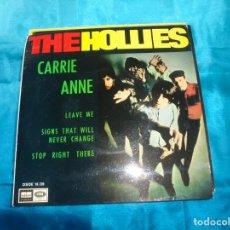 Discos de vinilo: THE HOLLIES. CARRIE ANNE + 3 . EP. ODEON, 1967. PROMOCIONAL. SPAIN. . Lote 187448278