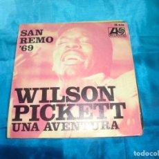 Discos de vinilo: WILSON PICKETT. SAN REMO´69. UNA AVENTURA / BAREFOOTIN. ATLANTIC, 1969. SPAIN. IMPECABLE. Lote 187449690