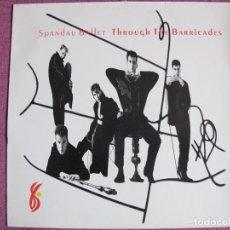 Discos de vinilo: LP - SPANDAU BALLET - THROUGH THE BARRICADES (SPAIN, CBS 1986). Lote 187451402