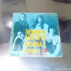 Discos de vinilo: THE MAMAS & THE PAPAS ----MONDAY MONDAY / CALIFORNIA DREAMIN -- ORIGINAL AÑO 1966. Lote 187451556