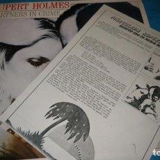 Discos de vinilo: RUPERT HOLMES LP PARTNERS IN CRIME INCLUIDA NOTA DE PRENSA. Lote 187466653