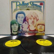Discos de vinilo: THE ROLLING STONES - DIE 30 GRÖBTEN HITS 1977 ED ALEMANA GATEFOLD. Lote 187467223