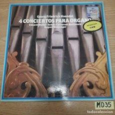 Discos de vinilo: 4 CONCIERTOS PARA ORGANO. Lote 187470777