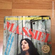 Disques de vinyle: MASSIEL - EUROVISION 1968. Lote 187476590