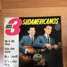 Discos de vinilo: LOS 3 SUDAMERICANOS. Lote 187476665