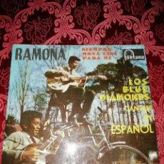 Discos de vinilo: LOS BLUE DIAMONDS RAMONA Y 3 TEMAS MAS. Lote 187480128