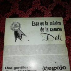 Discos de vinilo: SINGLE CAMISAS DALÍ CONFECCIONES REGOJO FRANHY 4 CANCIONES. Lote 187480396