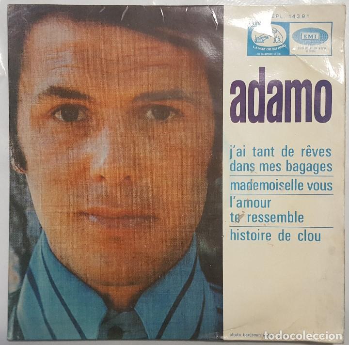 EP / ADAMO / J'AI TANT REVES DANS MES BAGAGES +3 / 1968 (Música - Discos de Vinilo - EPs - Canción Francesa e Italiana)
