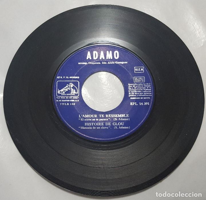 Discos de vinilo: EP / ADAMO / J'AI TANT REVES DANS MES BAGAGES +3 / 1968 - Foto 4 - 187489521