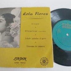 Discos de vinilo: LOLA FLORES-EP EL LERELE +3-BUEN ESTADO. Lote 187490985