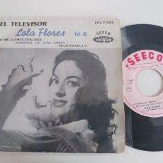 Discos de vinilo: LOLA FLORES-EP EL TELEVISOR +3-FRENCH. Lote 187491142