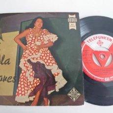 Discos de vinilo: LOLA FLORES-EP LIMOSNA DE AMORES +3-BUEN ESTADO. Lote 187492747
