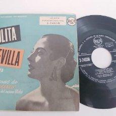 Discos de vinilo: LOLITA SEVILLA-EP DEL FILM EL FOTOGENICO. Lote 187497046