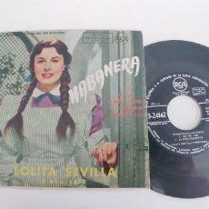 Discos de vinilo: LOLITA SEVILLA-EP DEL FILM HABANERA . Lote 187497095
