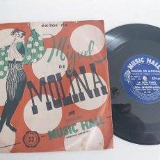 Discos de vinilo: MIGUEL DE MOLINA-EP LA BIEN PAGA +3. Lote 187505883