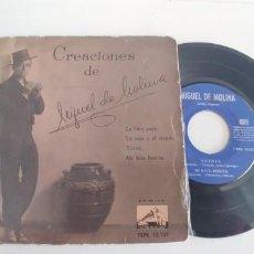 Discos de vinilo: MIGUEL DE MOLINA-EP LABIEN PAG +3. Lote 187506011