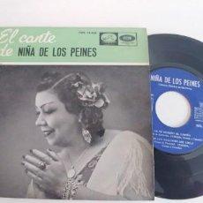Discos de vinilo: NIÑA DE LOS PEINES-EP A LA SIERRA DE ARMENIA +3. Lote 187506466