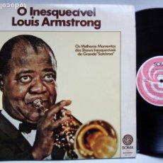 Discos de vinilo: O INESQUECÍVEL LOUIS ARMSTRONG. LP SOMA 409.7018. BRASIL 1977. . Lote 187508692