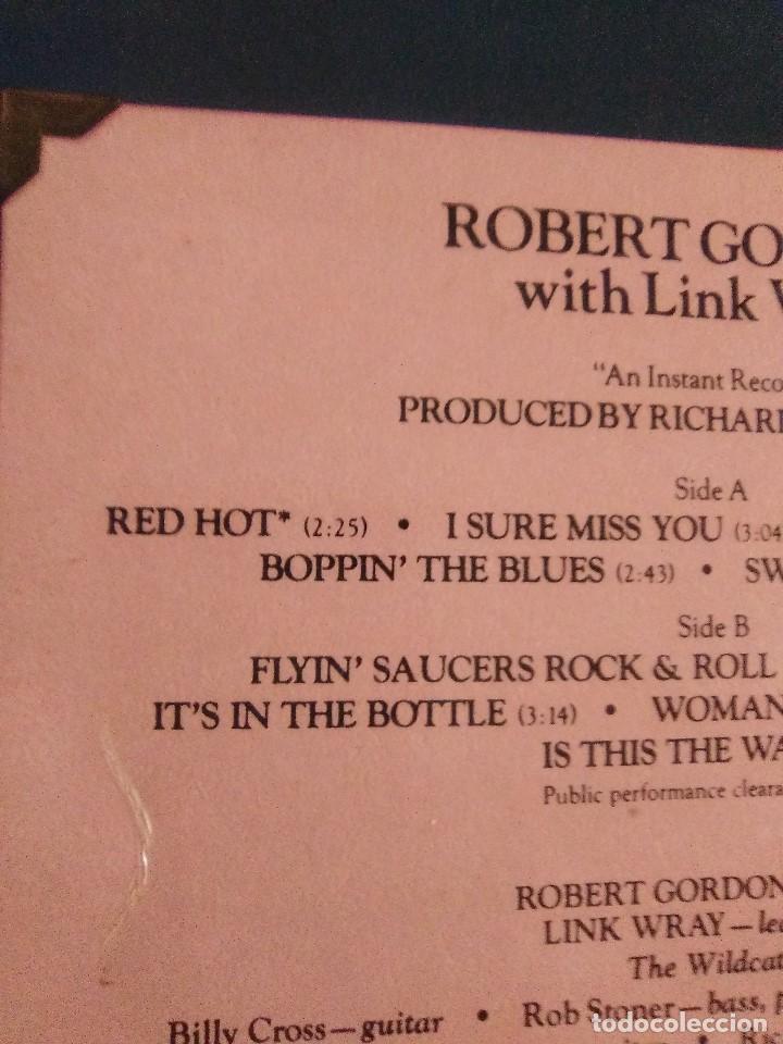 Discos de vinilo: LP DE ROBERT GORDON WITH LINK WRAY GUITAR. RED HOT.SELLO RCA PL 13296.SPAIN.1980. - Foto 6 - 187520651