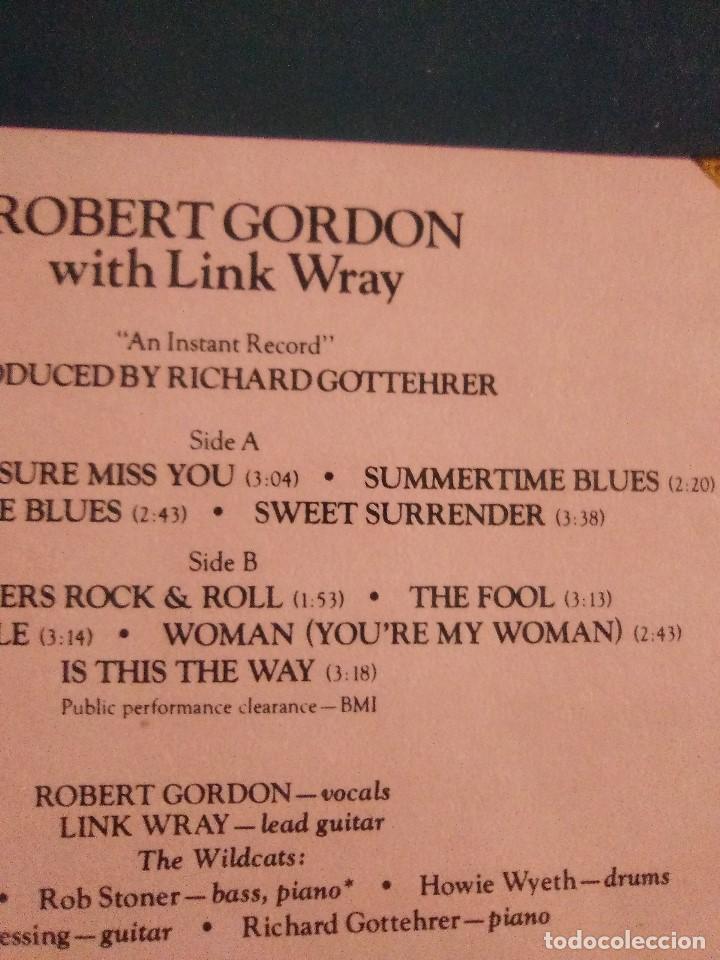 Discos de vinilo: LP DE ROBERT GORDON WITH LINK WRAY GUITAR. RED HOT.SELLO RCA PL 13296.SPAIN.1980. - Foto 7 - 187520651