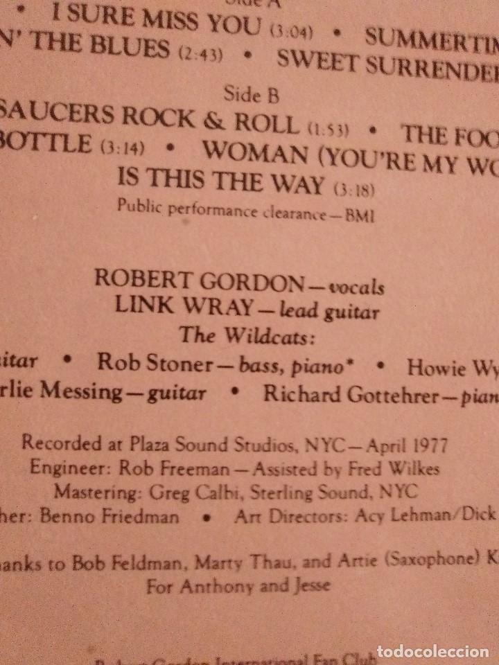Discos de vinilo: LP DE ROBERT GORDON WITH LINK WRAY GUITAR. RED HOT.SELLO RCA PL 13296.SPAIN.1980. - Foto 8 - 187520651