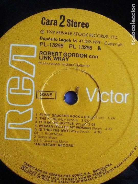 Discos de vinilo: LP DE ROBERT GORDON WITH LINK WRAY GUITAR. RED HOT.SELLO RCA PL 13296.SPAIN.1980. - Foto 11 - 187520651