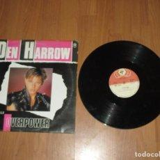 Discos de vinilo: DEN HARROW - OVERPOWER - MAXI - SPAIN - BABY RECORDS - LV - . Lote 187533677