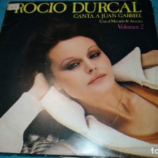 Discos de vinilo: ROCIO DURCAL - CANTA A JUAN GABRIEL - VOLUMEN 2 - LP. Lote 187534395