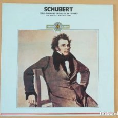 Discos de vinilo: SCHUBERT - TRES SONATAS PARA VIOLIN Y PIANO. LOLA BOBESCO. MEIKO MIYAZAWA.. Lote 187555516
