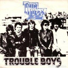 Discos de vinilo: THIN LIZZY – TROUBLE BOYS - MEMORY PAIN UK-1981 SINGLE VERTIGO. Lote 187562012
