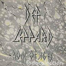 Discos de vinilo: DEF LEPPARD – ROCK OF AGES - ACTION! NOT WORDS 1983-UK SINGLE VERTIGO. Lote 187563067