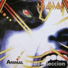 Discos de vinilo: DEF LEPPARD – ANIMAL - TEAR IT DOWN 1987-UK SINGLE BLUDGEON RIFFOLA. Lote 187563385