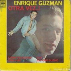 Dischi in vinile: ENRIQUE GUZMAN - DAME FELICIDAD/VEN A MI/OYE/AHI QUE BUENO (EP ESPAÑOL, CBS 1962). Lote 187584710