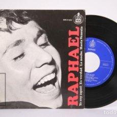 Discos de vinilo: DISCO EP DE VINILO - RAPHAEL / YO SOY AQUEL, ES VERDAD - HISPA VOX - AÑO 1966. Lote 187596133