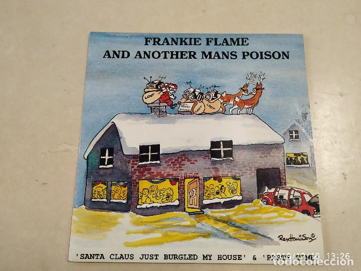 SINGLE FRANKIE FLAME AND ANOTHER MANS POISON - SANTA CLAUS JUST BURGLED MY HOUSE/PARTY TIME (Música - Discos - Singles Vinilo - Punk - Hard Core)