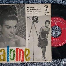Discos de vinilo: SALOME - EP. CUORE + 3 CANCIONES. AÑO 1.963. EDITADO POR ZAFIRO. Lote 187608096