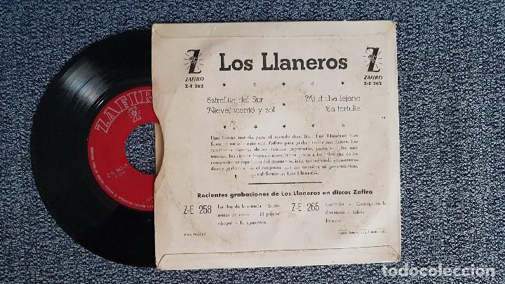Discos de vinilo: Los Llaneros. EP. Estrellita del sur + 3 canciones. año 1.961Editado por Zafiro. - Foto 2 - 187610353