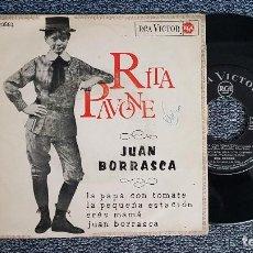 Discos de vinilo: RITA PAVONE. EP. LA PAPA CON TOMATE. + 3 CANCIONES. AÑO 1.965. EDITADO POR RCA. Lote 187611031