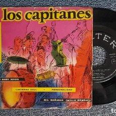Discos de vinilo: LOS CAPITANES. EP. ADIOS BABY ADIOS + 3 CANCIONES. AÑO 1.960. EDITADO POR BELTER. DISCO MUY RARO.. Lote 187612807