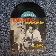 Discos de vinilo: RALF BENDIX - BABYSITTER-BOOGIE. AÑO 1.963.. EDITADO EN ALEMANIA. MUY RARO. POCAS UNIDADES.. Lote 187613266