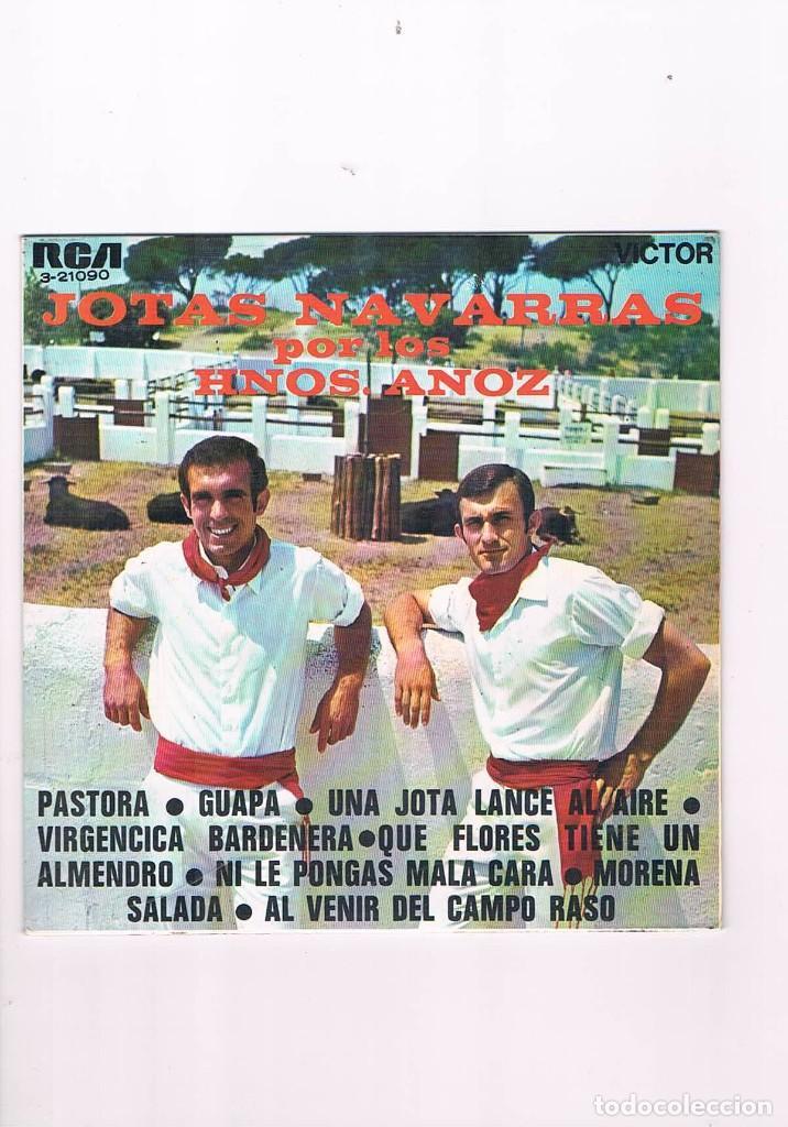 DISCO VINILO SINGLE JOTAS NAVARRAS POR LOS HERMANOS ANOZ PASTORA GUAPA 1969 (Música - Discos - Singles Vinilo - Clásica, Ópera, Zarzuela y Marchas)
