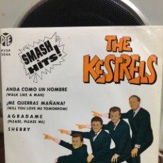 Discos de vinilo: THE KESTRELS-ANDA COMO UN HOMBRE+3-1963-MUY BUEN ESTADO. Lote 187631565